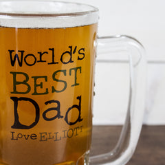 Dad's 'Love From' Personalised Beer Glass Tankard - Luxe Gift Store