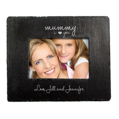 Mum's 'Love You Mummy' Personalised Slate Landscape Photo frame - Luxe Gift Store