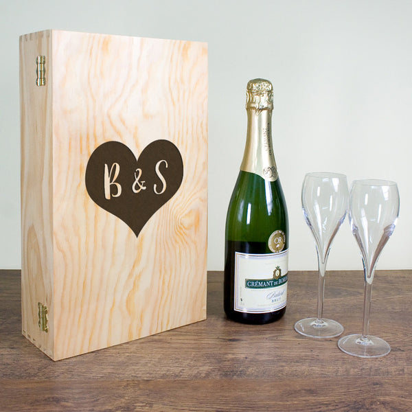 Lovers Personalised Double Wine Box