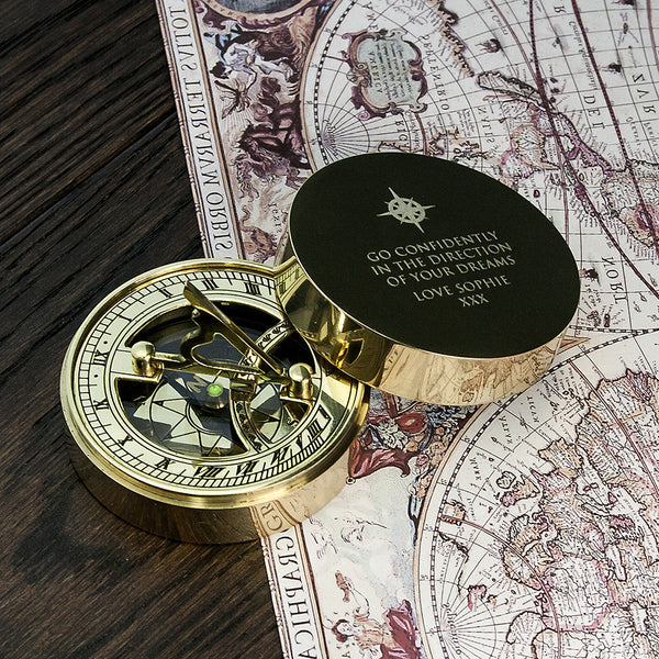 Iconic Adventurer's Personalised Sundial Compass