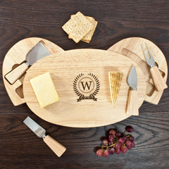 Monogram Personalised Classic Cheese Board Set - Luxe Gift Store
