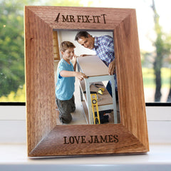 Dad's 'Mr Fix-it' Personalised Photo Frame - Luxe Gift Store