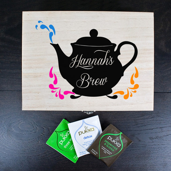 My Favourite Brews Personalised Tea Box