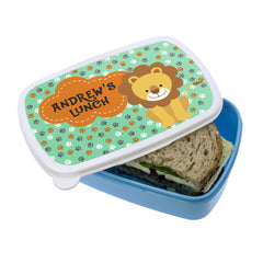 Kid's 'My Little Lion' Personalised Lunch Box - Luxe Gift Store