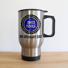 Dad's 'No Ordinary Dad' Personalised Silver Travel Mug - Luxe Gift Store