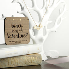 'Fancy Being My Valentine' Personalised Necklace - Gold - Luxe Gift Store