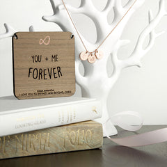 'You + Me Forever' Personalised Necklace - Rose Gold or Gold - Luxe Gift Store
