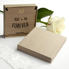 'You + Me Forever' Personalised Necklace - Silver (Shown), Rose Gold or Gold - Luxe Gift Store