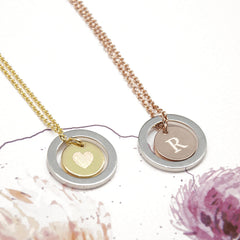 Romantic Personalised 'You Are My World' Necklace - Rose Gold & Silver or Gold & Silver - Luxe Gift Store - 5