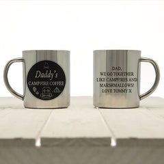 Daddy's Campfire Coffee Personalised Outdoor Mug - Luxe Gift Store