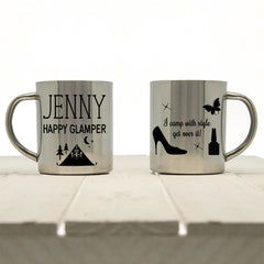 Women's 'Happy Glamper' Personalised Outdoor Mug - Luxe Gift Store - 2