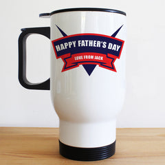 Dad's Superhero Fuel Personalised Travel Mug - Luxe Gift Store