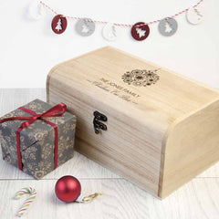 Family's Christmas Personalised Wooden Chest Bauble Design - Luxe Gift Store
