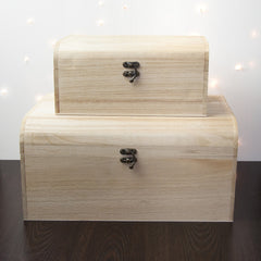 Christmas Personalised Wooden Chest - Unisex - Luxe Gift Store