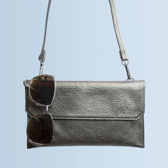 Metallic Leather Personalised Handbag & Clutch - Luxe Gift Store