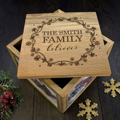 Family's Christmas Personalised 'Our Family Believes' Memory Box - Luxe Gift Store