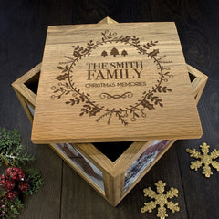 Christmas Personalised Memory Box Traditional Design - Luxe Gift Store