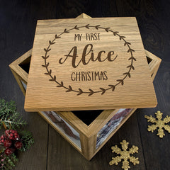 Baby's 'My First Christmas' Personalised Memory Box - Unisex - Luxe Gift Store