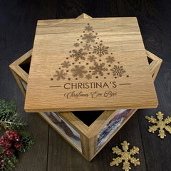 Christmas Personalised Memory Box Tree Design - Luxe Gift Store