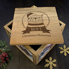 Christmas Personalised Woodland Bear Memory Box - Luxe Gift Store