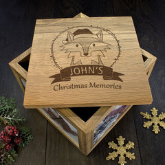 Christmas Personalised Woodland Fox Memory Box - Luxe Gift Store