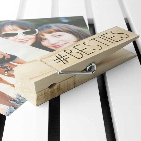 Wooden Peg Personalised Photo Holder