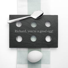 Slate Personalised Egg Holder - Luxe Gift Store