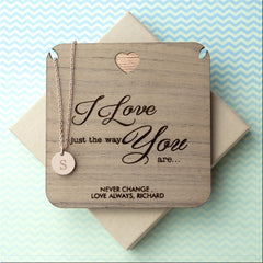 'I Love You' Single Charm Personalised Necklace - Gold (Shown), Rose Gold or Silver - Luxe Gift Store
