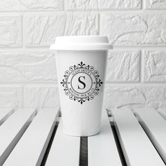 Monogrammed Personalised Ceramic Eco Cup