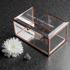 Rose Gold Glass Personalised Jewellery Box - Luxe Gift Store