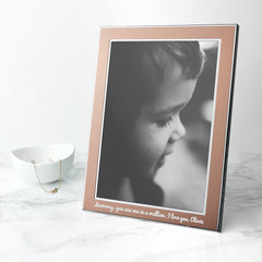 Rose Gold Metal Personalised Photo Frame - Medium - Luxe Gift Store