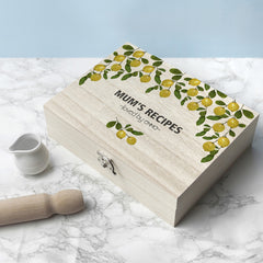 Recipe Personalised Box - Lemon Grove Design - Luxe Gift Store
