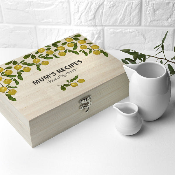 Recipe Personalised Box - Lemon Grove Design