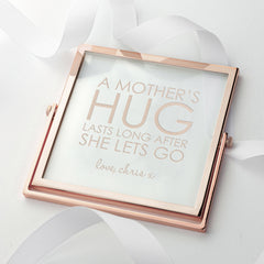 Rose Gold Frame Engraved 'Mother's Hug' - Luxe Gift Store