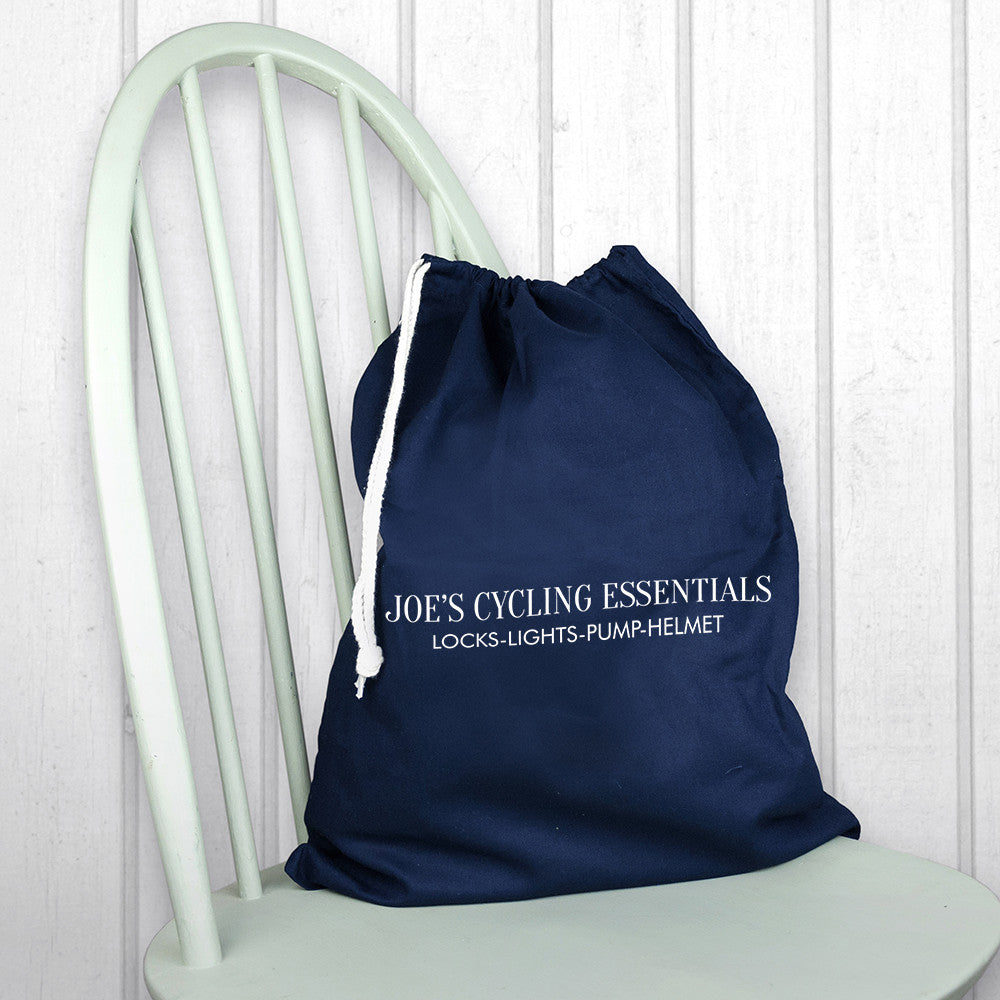 f1cd8265ed38 Men s Personalised Cotton Navy Gym Bag – Luxe Gift Store
