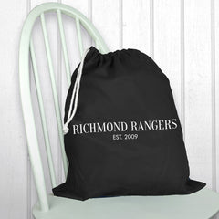 Men's Personalised Black Boot Bag