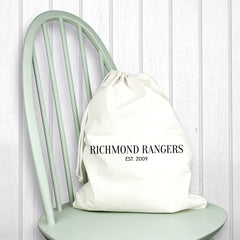 Men's Personalised Cream Boot Bag