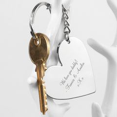 Heart Personalised Key Ring - Luxe Gift Store