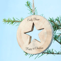 Sparkle Star Christmas Personalised Decoration - Luxe Gift Store