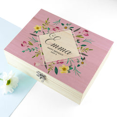 Botanical Mother's Day Personalised Tea Box - Luxe Gift Store