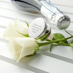 Silver Plated Personalised Bottle Stopper
