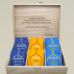 Time For Tea! Personalised Wooden Tea Box - Blue, Green, Yellow or Red - Luxe Gift Store - 7