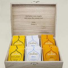 Time For Tea! Personalised Wooden Tea Box - Blue, Green, Yellow or Red - Luxe Gift Store - 8