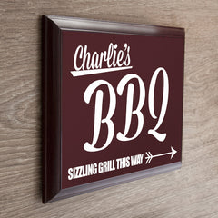 Men's 'BBQ This Way' Personalised  Garden Plaque - Luxe Gift Store - 2