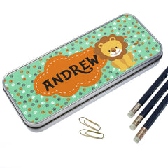 Kid's Happy Lion Personalised Pencil Case - Luxe Gift Store - 2