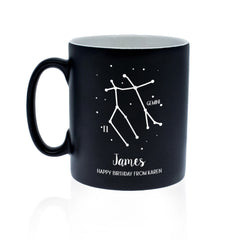 Constellation Personalised Ceramic Mug - Pink or Black - Luxe Gift Store