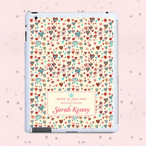 Girl's Thousand Hearts Personalised Tablet and iPad Case