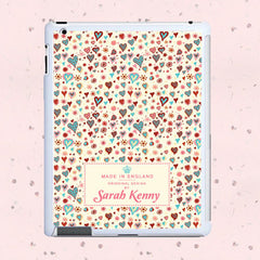 Girl's Thousand Hearts Personalised Tablet and iPad Case - Luxe Gift Store