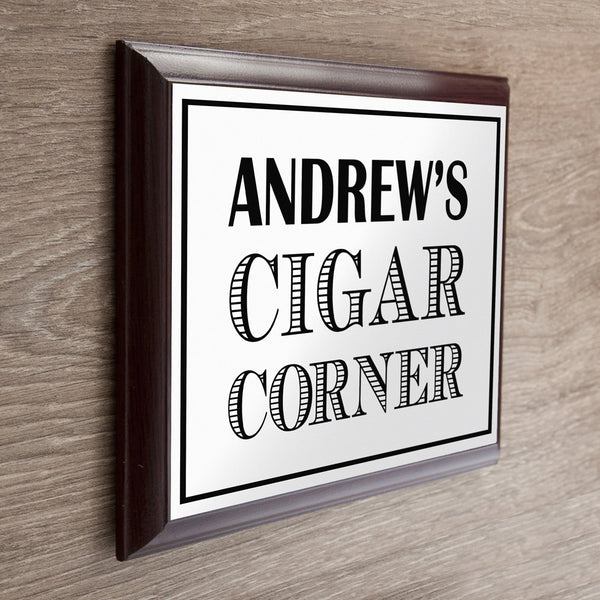 Art Deco Cigar Corner Personalised Plaque
