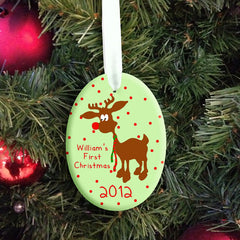 Baby's First Christmas Personalised Reindeer Decoration - Unisex - Luxe Gift Store